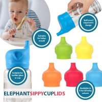 Elephant Sippy Cup Lids - Assorted Colours