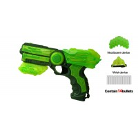 Green Glow in the Dark Soft Bullet Toy Gun – MEDIUM