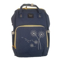 Embroidered Flower Backpack Baby Bag – NAVY