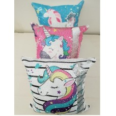 Sequins Unicorn Pillows – ASSORTED COLOURS