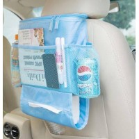 Car Back Seat Organizer With Drinks Cooler - Blue