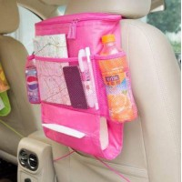 Car Back Seat Organizer - Pink