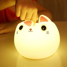 Cat Silicone Night Light – PINK