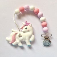 Unicorn - White & Pink Teether
