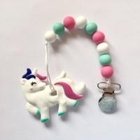 Unicorn - Pink & Mint Teether