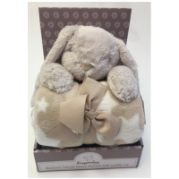 Luxurious Fleece Blanket with Cuddly Toy - Rabbit