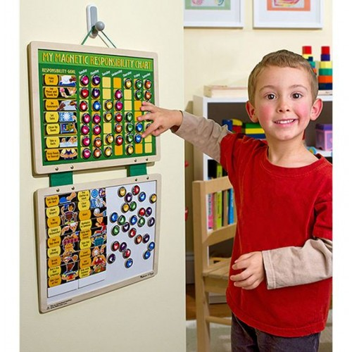 Melissa Doug Magnetic Responsibility Chart Kids Play And Learn Learning Toys