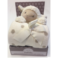 Luxurious Fleece Blanket with Cuddly Toy - Sheep