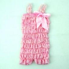 Smitten Lace Romper – Pink