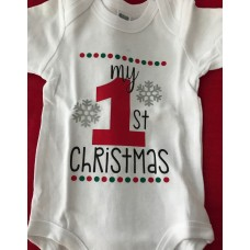 My 1st Christmas Onesie - Red 1