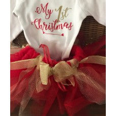 My 1st Christmas Tutu Set - Red