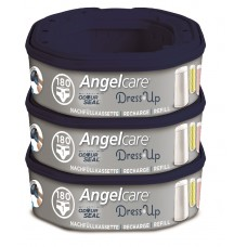 Angelcare - Dress Up Nappy Bin Refill - Octagon - 3 Pack