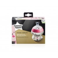 Tommee Tippee - Closer To Nature 260ml Bottle 2 Pack - Decorative Pink