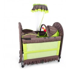 New 6 in 1 Brown/Green - Camp Cot