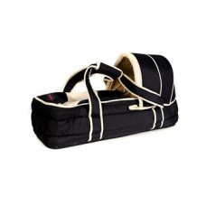 Soft Carry Cot - Black/Beige
