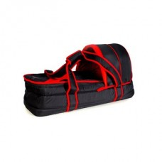 Soft Carry Cot - Black/Red