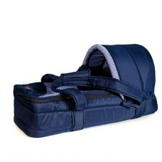 Soft Carry Cot - Navy/Navy Check