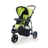 Apache Black/Green - 3 Wheel Stroller