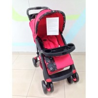 New Polo Stroller - Black/Red