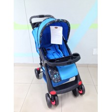 New Polo Stroller - Black/Blue - 4 Wheel