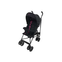 Clio 2 Position Buggy With Front Bar & Shade - Black/Fushia