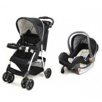 Mustang Black - Travel System with Car Seat