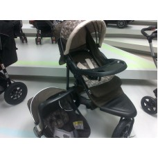 JTS Brown Circles - Travel System with Car Seat