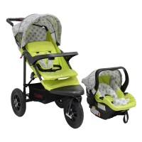 JTS Urban Detour - Green Leaf - Travel System with car seat
