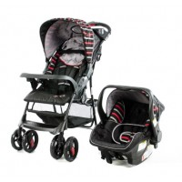 Matrix Black/Red - Travel System with Car Seat