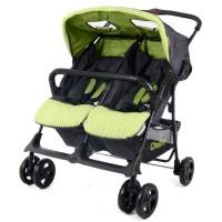 H273T Twin Stroller - Grey/Green