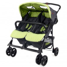H273T Twin Stroller - Grey/Green