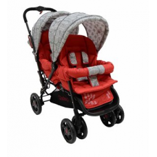 H802 Twin Tandem Stroller - Front & BAck Twin - Red Leaf