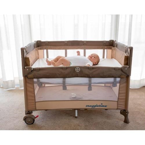 snuggletime co sleeper camp cot. Black Bedroom Furniture Sets. Home Design Ideas