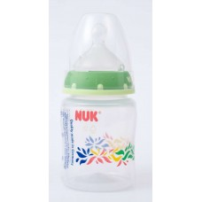 NUK - First Choice Bottle Silicone Teat SZ1 150ml - Border Green