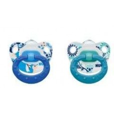 NUK - Silicone Summertime Soother - Boy 2 Pack