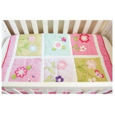 Flower - 3 Piece Quilt Set - (Quilt, Pillow & Pillow case)