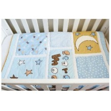 Moon & Stars - 3 Piece Quilt Set - (Quilt, Pillow & Pillow case)