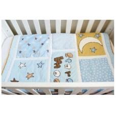 Moon & Stars - 3 Piece Quilt Set - (Quilt, Pillow & Pillow case)