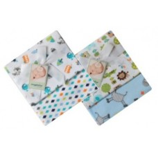 Receiver Blanket - 2 Pack - Blue Print