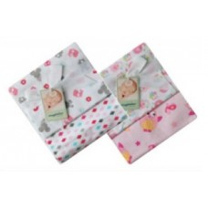 Receiver Blanket - 2 Pack - Pink Print