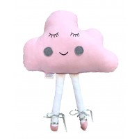 Blush Pink Cloud Ballerina Pillow