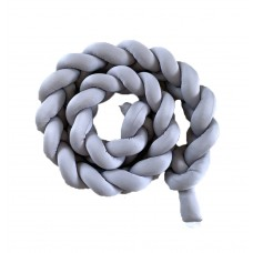 Braided Cot Bumper - Grey-3m