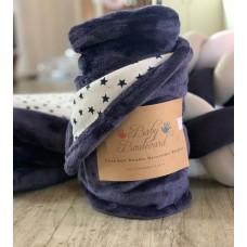 Reversible Navy Stars Blanket 2 in 1 - Ultra Soft & Cuddly