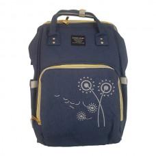 Embroidered Flower Backpack Baby Bag – NAVY
