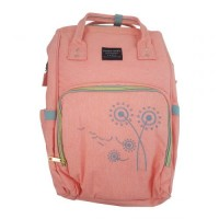 Embroidered Flower Backpack Baby Bag – PEACH