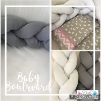 Braided Cot Bumper - 4m Grey