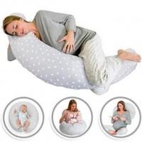 3 in 1 Maternity Pillow,  Preggy Roll & Feeding Pillow - Grey