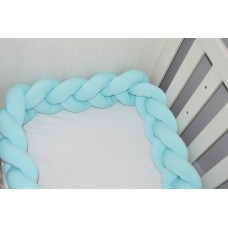 Braided Cot Bumper - 2m Mint