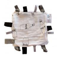 Taglet Blankie with Dummy Clip - Milky (Black & White)